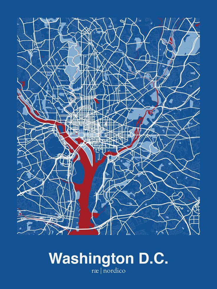 Washington D C Usa Map Print