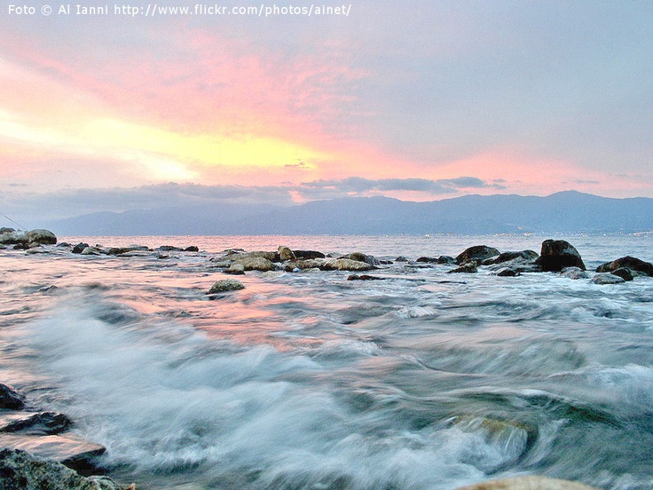 Coast line reggio marina