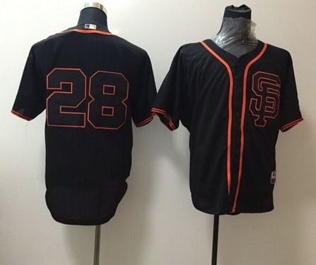 MLB San Fransico Giants #28 Buster Posey 2015 Black SF Edition Jersey