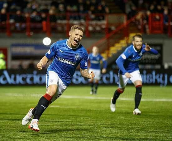 Martyn Waghorn breaks his goal drought at Hamilton in the 2-1 win for Rangers.