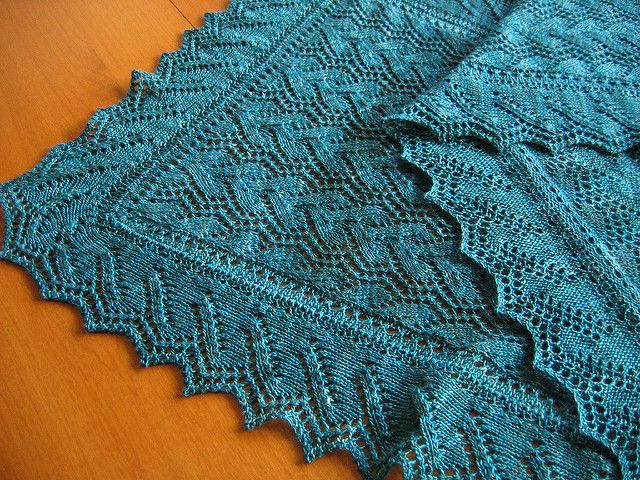 Ravelry: Print O' the Wave Stole pattern by Eunny Jang