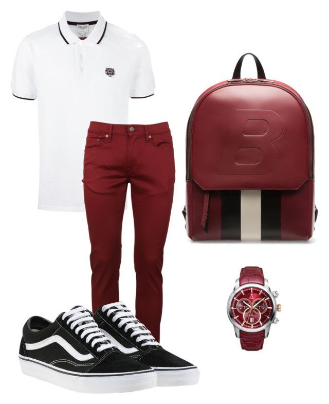 """""""For my hubby"""" by tothmerci on Polyvore featuring Kenzo, Burberry, Vans, Bally, Allurez, men's fashion and menswear"""