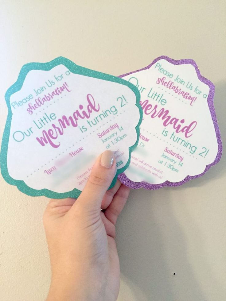 Best 25+ Mermaid party invitations ideas on Pinterest | Under the sea party, First birthday girl ...