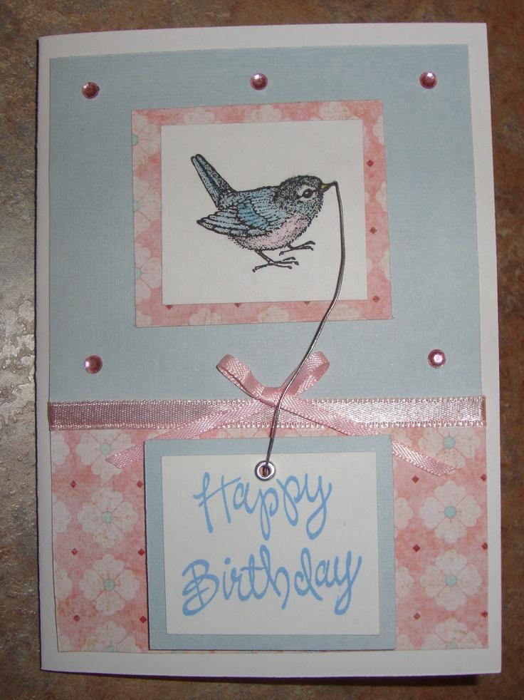 Birthday card Homemade cards by Janie Cox Pinterest