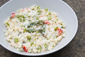 Steamer Risotto with King Crab, Lemon, Mint and Green Aspargus