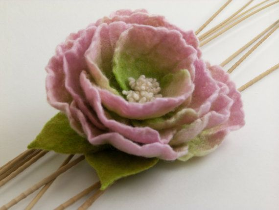 Felt Flower Brooch by felttess on Etsy, $36.00