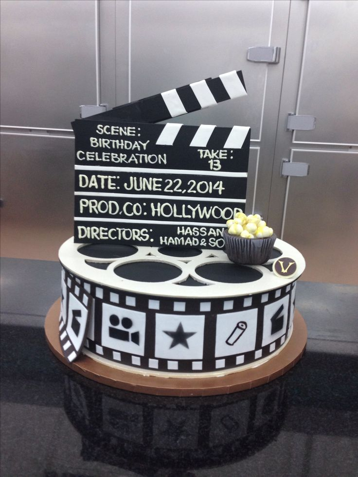 Film, Cakes and Film reels on Pinterest