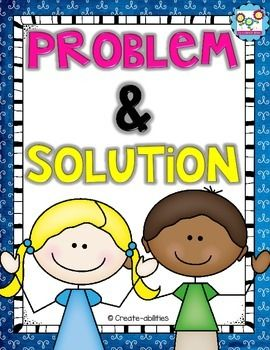Problem and Solution Printables:%0A%0A This pack will help you clearly teach your students the core concept of problem and solution. %0A%0AIncluded in this download:%0A•problem and solution posters%0A•problem and solution signal words%0A•problem and solution graphic organizers %0A•problem and solution picture prompts%0A• Snapshot Solutions%0A•What's the Problem?%0A•What's the Solution?