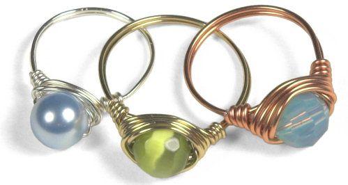 DIY ring: Wirewrap, Rings Tutorials, Wire Rings, Simple Rings, Simple Wire Wraps, Beads Jewelry, Diy Rings, Ring Tutorial, Wire Wraps Rings