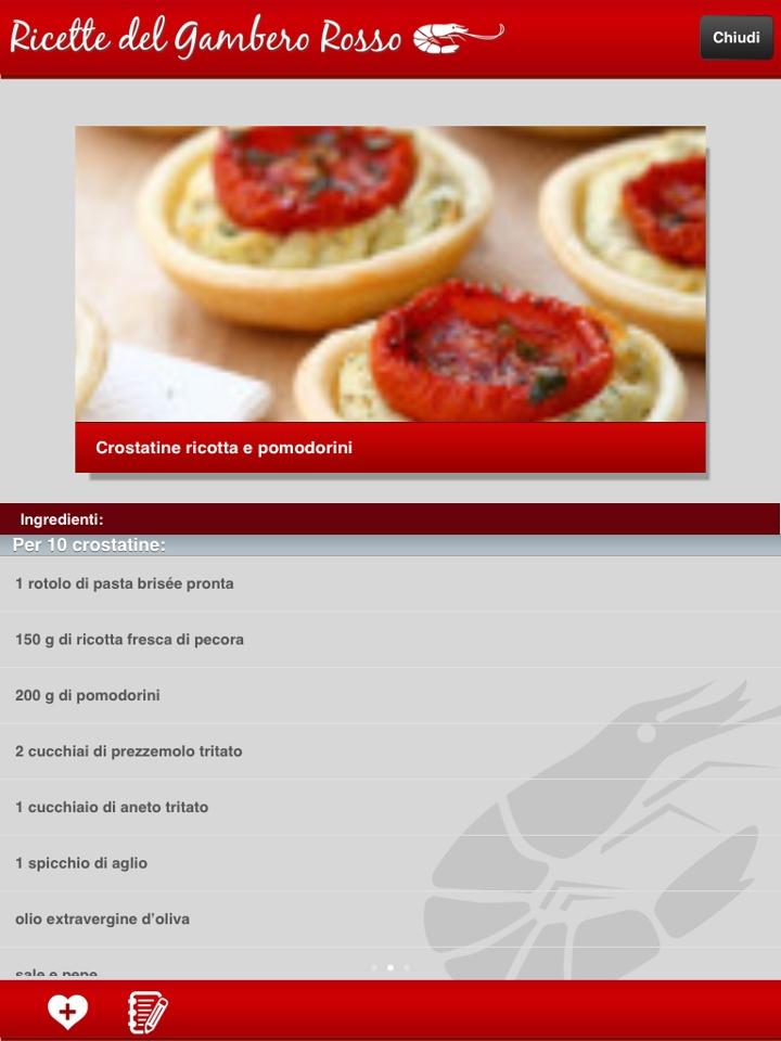 CROSTATINE RICOTTA E POMODORINI. La ricetta completa è disponibile sulla nuova applicazione per iPhone e iPad. Scaricala gratuitamente da Itunes