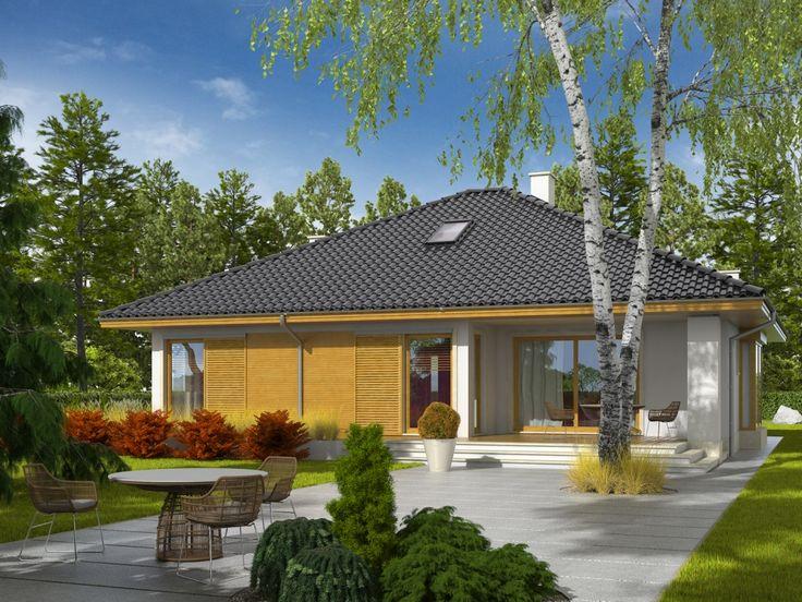 Projekt domu AC Flori III - DOM AF1-63 - gotowy projekt domu