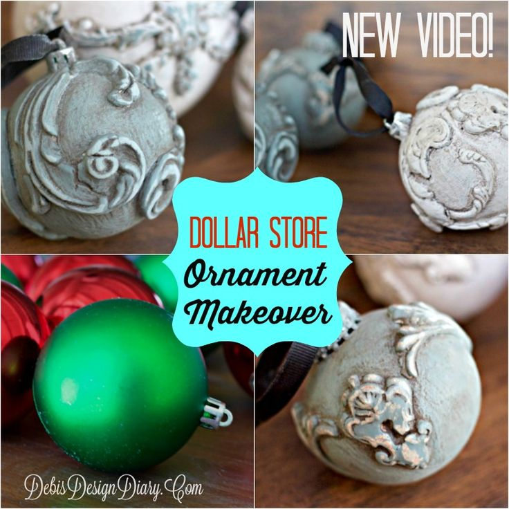 Dollar Store Craft Makeover with fancy Molds and DIY Paint! | Debis Design Diary