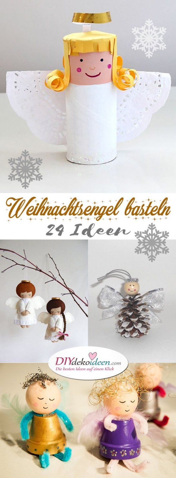 Zauberhafte kleine Weihnachtsengel basteln - Über 20 DIY Bastelideen - Weihnachtsbasteln - Bastelideen Weihnachten