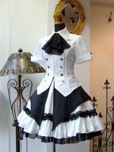 Modern Victorian era steampunk clothing maid costume.                                                                                                                                                                                 Mehr