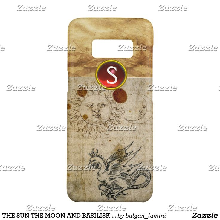 THE SUN THE MOON AND BASILISK PARCHMENT Monogram Case-Mate Samsung Galaxy S8 Case  #nature #beauty #durer #drawing