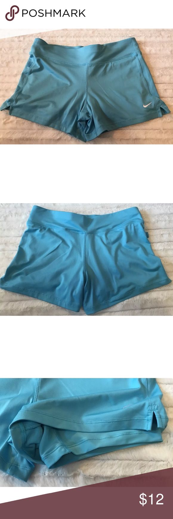 Nike Tennis Shorts / Skort NIKE Dri Fit Tennis Shorts With Attached Short Tights Size XS XSmall Blue Layer Nike Shorts Skorts