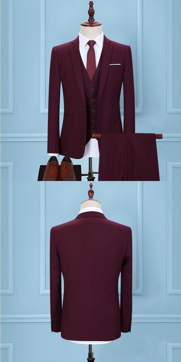 2017 men purple suit business cultivate one's morality The best man the groom wedding dress Two pieces of