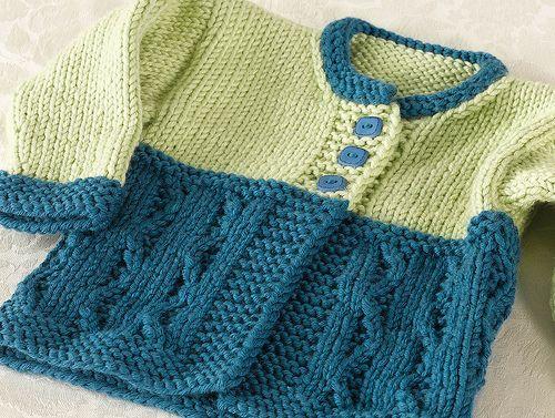 free pattern on Ravelry: Cold Spring Baby Cardigan pattern by Bonnie Sennott