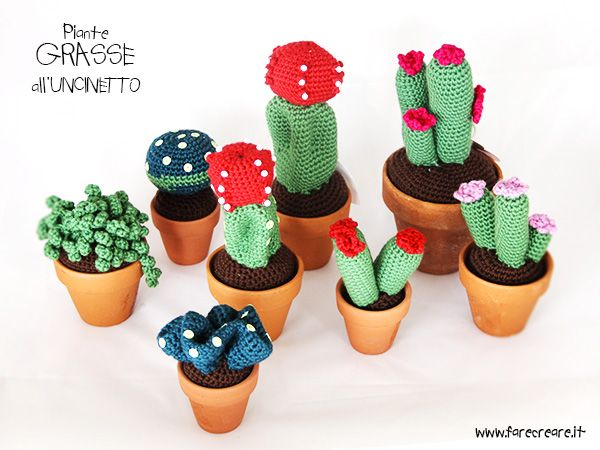 355 best images about crochet cactus on pinterest free for Piante grasse uncinetto