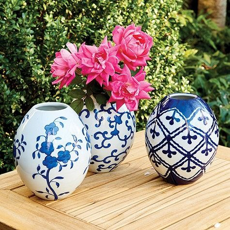 Petite Chinoiserie Vases - Set of 3
