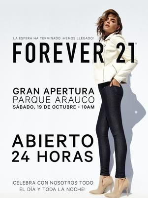 #Forever 21 en #Chile estila estilo
