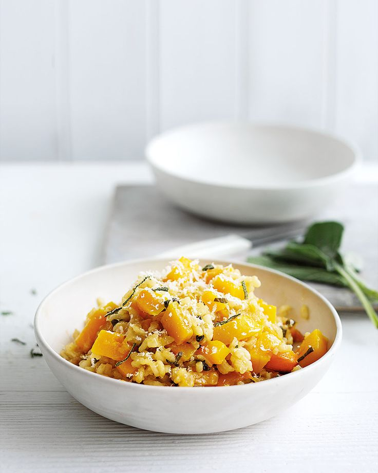 Baked squash and sage risotto (simpler than a standard risotto)