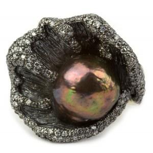 anillo labruixeta sortija perla plata circonitas www.sanci.es