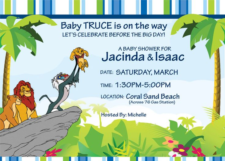 Custom Lion King Invitation. $10.00, via Etsy. | Ideas for Jaci's Baby shower | Pinterest ...