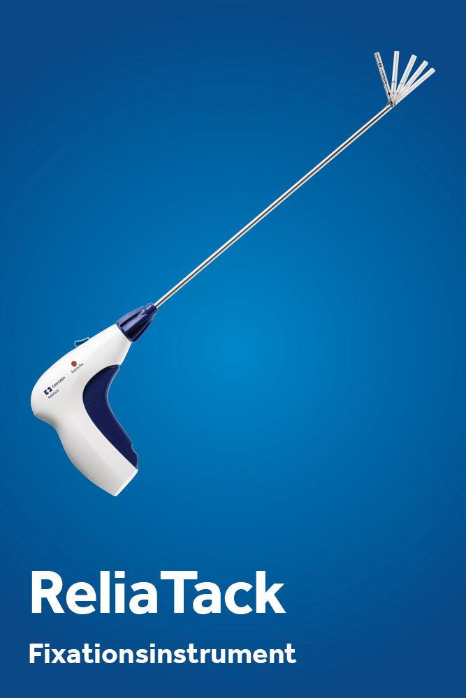 Dieses Produkt wird bei der Hernienchirurgie eingesetzt, also bei einem Leistenbruch. Es lässt sich abwickeln und nachladen.