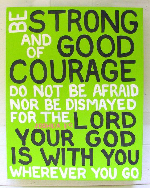 Canvas Painting - Joshua 1:9