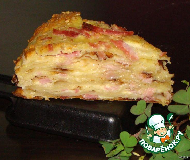 """Закусочный торт """"Сырное суфле"""" - кулинарный рецепт"""