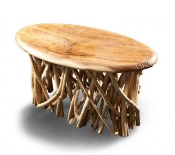 CP503/SU Panca in legno di Suar naturale trattato con cera.  Misure 80 x 36 x 50 cm Codice prezzo 81