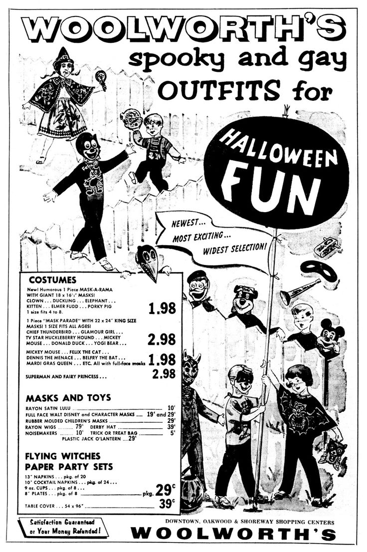 47 best Woolworth's and Kresge's Halloween Vint. Ads! images on ...