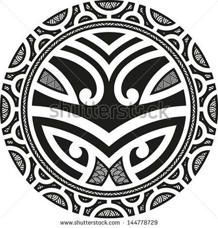 Traditional Maori Taniwha tattoo design. Editable vector illustration. - stock vector
