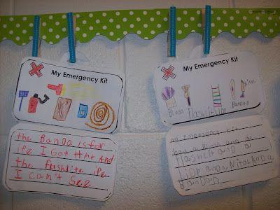 Scaredy Squirrel Emergency Kit writing