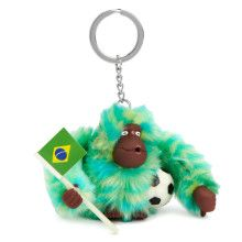 """Our latest furry monkey is ready to cheer your favorite team on! Holding a soccer ball and a Brazilian flag, he's the perfect addition to a backpack or to add to your game-day gear. Dimensions: 2.5"""" x 2"""" x 2.5"""""""