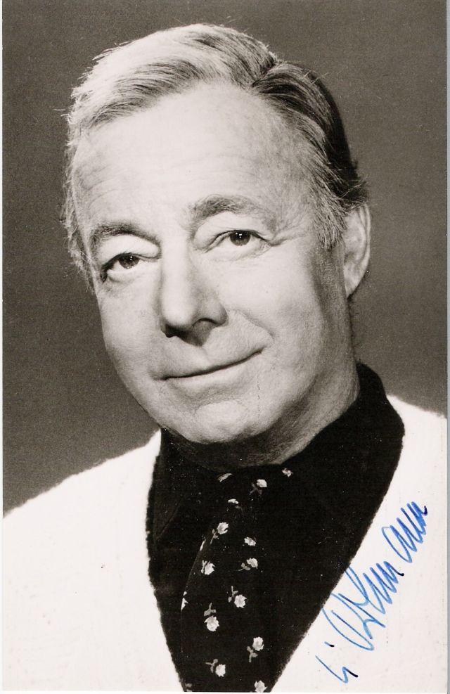 """Heinrich Wilhelm """"Heinz"""" Rühmann(*7. März 1902inEssen; †3. Oktober1994in AufkirchenamStarnberger See) war ein deutscherSchauspieler."""