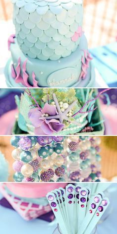 This is a party styled by a customer not Lillian Hope Designs using Lillian Hope Designs Printables. When Nancy from A to Zebra Celebrations asked me to create her daughter's Mermaid Party Printables I was super excited! I have wanted to do a Mermaid theme for a while now and the colors she wanted were gorgeous! I was in love with the pink, purple, aqua,