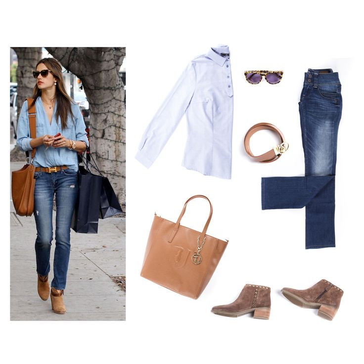 Inspired by Alessandra Ambrosio BIBLOO. Outfit, blue jeans, autumn outfit