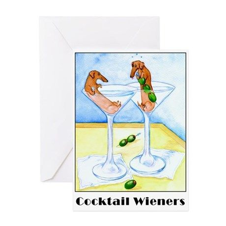 Cocktail Wieners Greeting Cards (Pk of 10) on CafePress.com