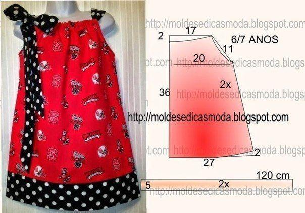 Ideas para el hogar: 3 Modelos de vestidos para niñas con moldes