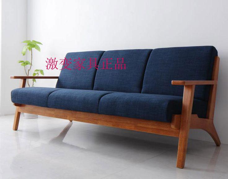 Armas de madera sofá estilo nórdico sofá de la sala de corea del sofá de la tela en Sofás de Sala de Estar de Muebles en AliExpress.com | Alibaba Group