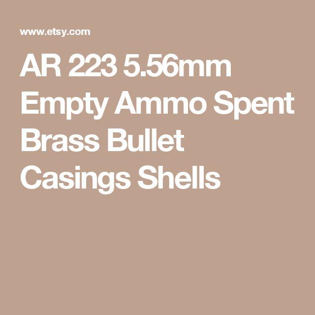 AR 223 5.56mm Empty Ammo Spent Brass Bullet Casings Shells