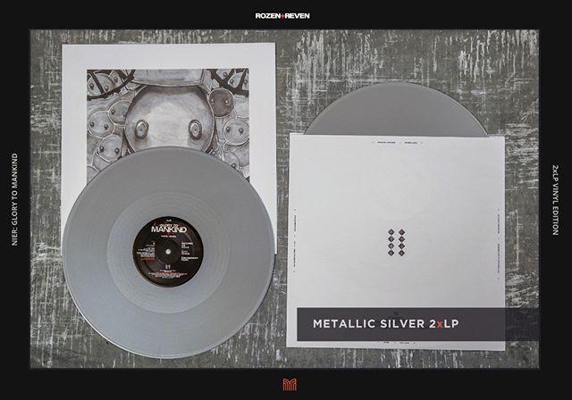 Glory To Mankind Limited Edition Silver Disc 2xlp Vinyl Shipping Now Nier Nierautomata Niermusic Keiichiokabe Video Game Music Indie Games Vinyl