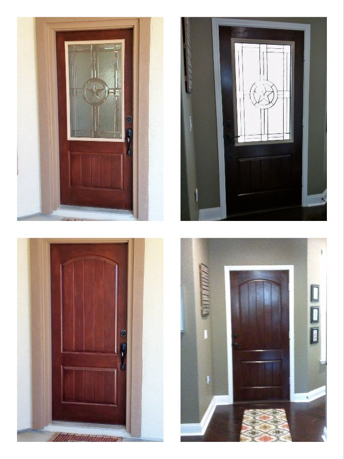 Looking to add natural light to your foyer not a problem for this fiberglass door we added - Odl glass door inserts ...