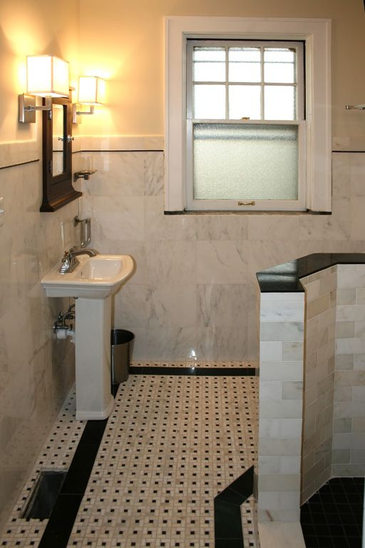 142 best images about home hall bath marble wainscotting on pinterest traditional bathroom polished nickel and marble subway tiles - Marble Tile Flooring Ideas
