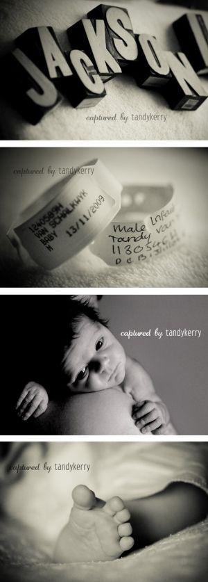 Newborn photography by ericka Love the idea of taking photos of hospital bracelets.