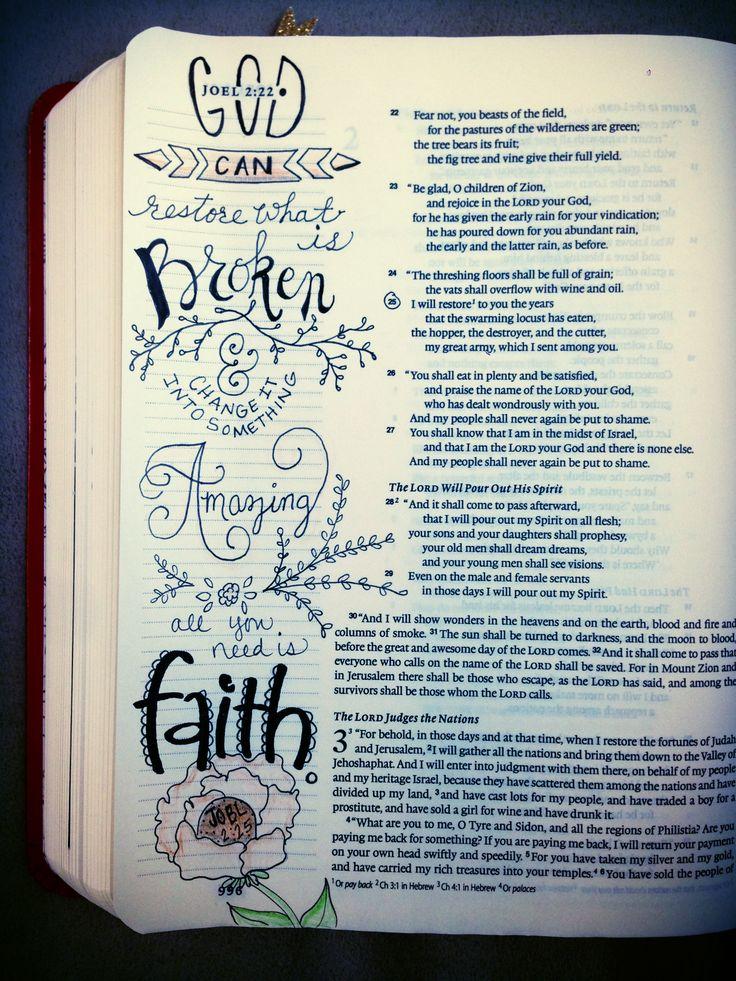 Bible Journaling Idea Joel 2:25