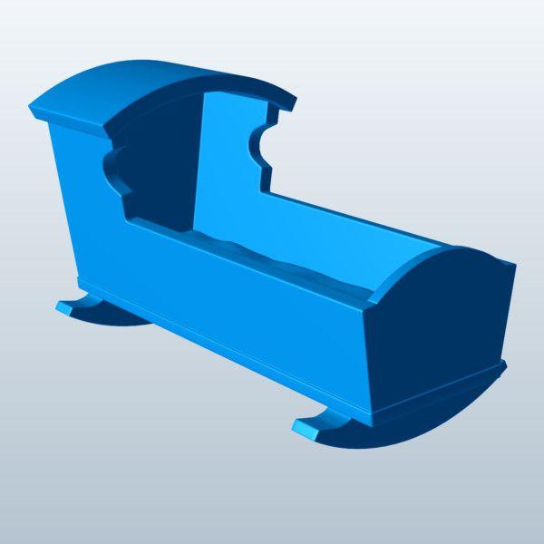 Rocking Cradle 3D Model Made with 123D MeshMixer