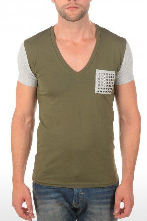 Zumo t-shirt Chiodi Army/Grey 1326 6837 Army/Grey » JeansandFashion.com